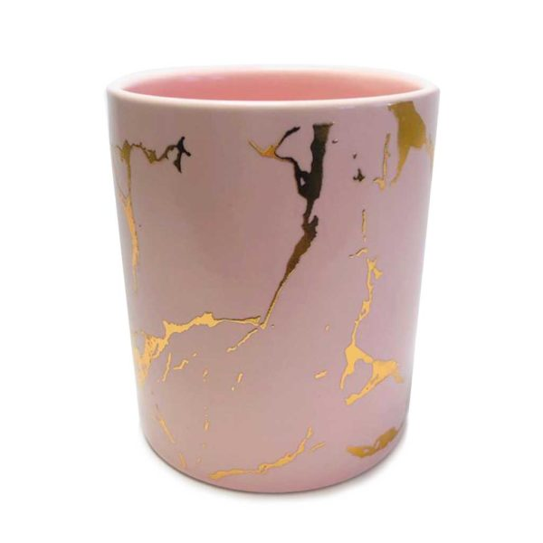 ceramic-marble-pink-gold-veins-jar