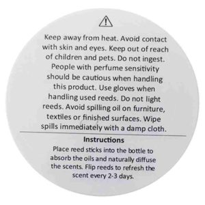 Diffuser Warning Labels